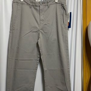 SLIM OLD NAVY GRAY PANTS SIZE 16 R NEW